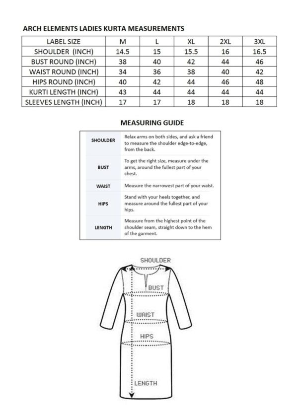 woman dress size chart